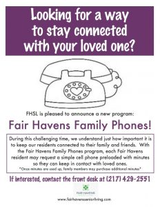 Attention Resident POAs - Communicate with your loved one directly!